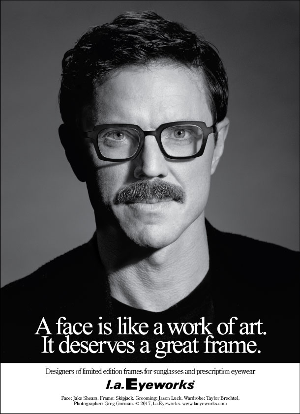 7c8566b82f Renowned singer-songwriter-author Jake Shears is the newest star to join  l.a.Eyeworks  illustrious portrait ad series