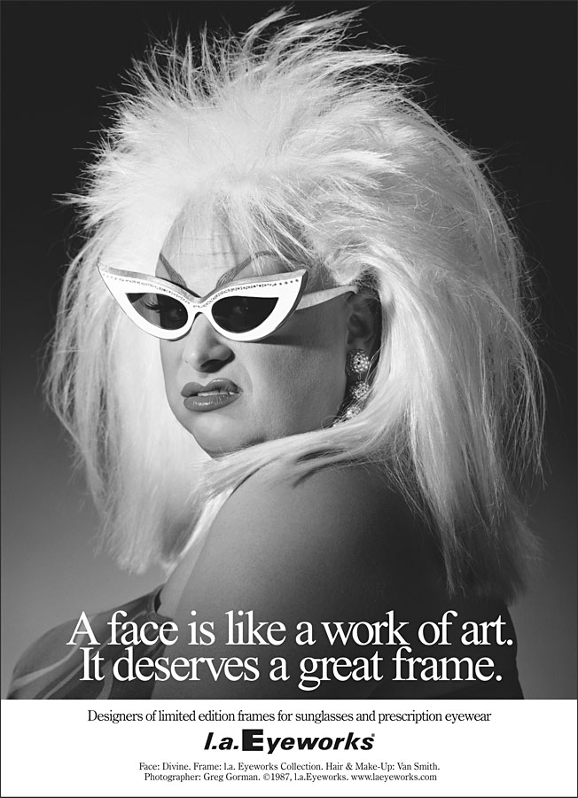 556c859612 Face  Divine. Frame  l.a.Eyeworks Collection. Photographer  Greg Gorman.  1987