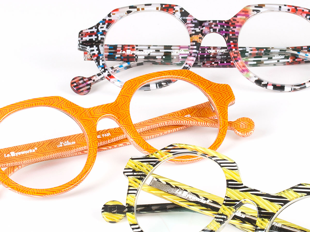 6893025f199 ... eyeglasses designed by l.a.Eyeworks are immediately recognized for  their bold shapes